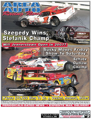 Area Auto News Racing on Area Auto Racing News   Cover Photo By Cliff Moon October 31  2006